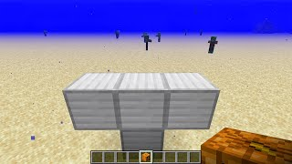 what if you create an iron golem in water