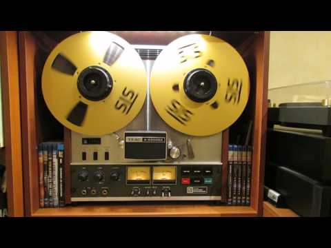 Enjoying the best audio source, reel to reel master tape copy.