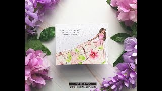 Haute Gala Cherry Blossom Bridal Shower Card