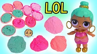Sand Ball ! LOL Pet Surprise Mixing All Sand - Blind Bag Cookie Swirl Video