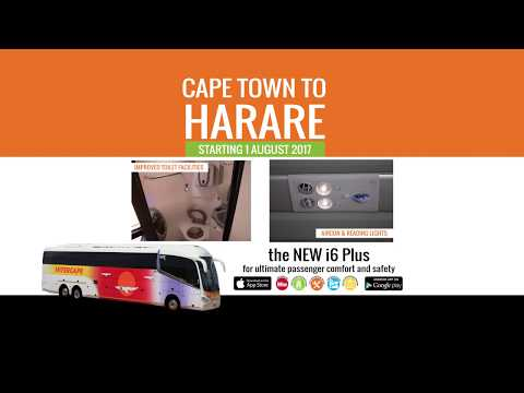 Intercape: On-Screen Advertising (Cape Town to Harare)