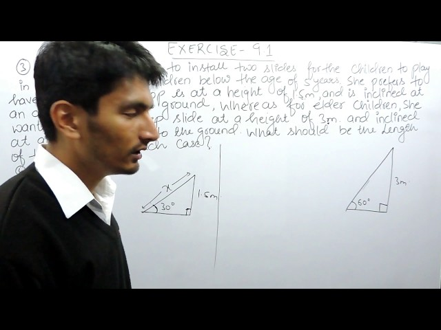 Chapter 9 Exercise 9.1 Q 3 - Some Applications of Trigonometry Class 10 maths - NCERT Solutions