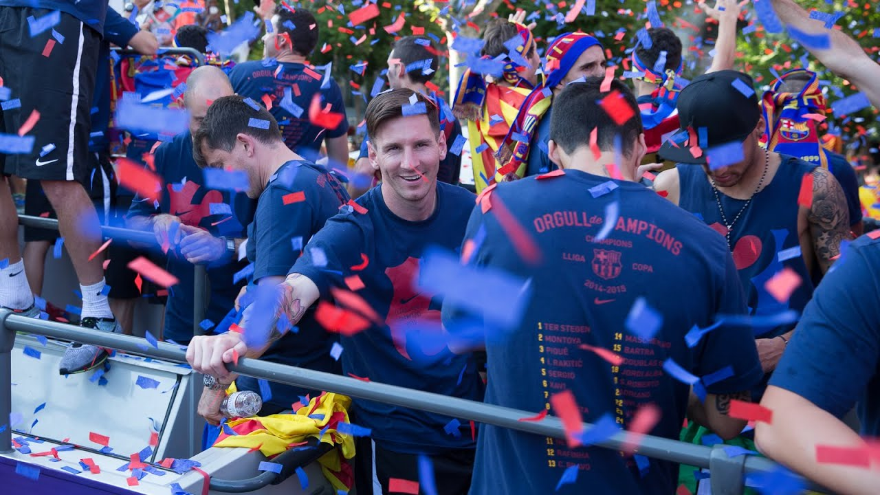 FC Barcelona - La Liga Champions Parade 2016 (full version