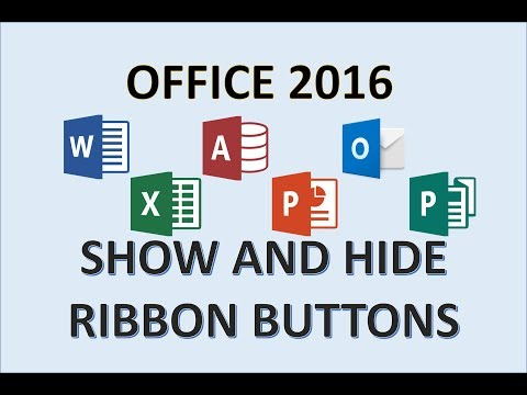 Office 2016 - Ribbon Options - How to Show and Auto Hide Tabs Groups & Commands in Microsoft MS 365