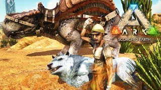 ARK: Scorched Earth - I GOT A DIRE WOLF!!!! - Scorched Earth Gameplay [9]