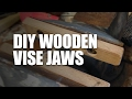 How to make wood jaws for a bench vise – Woodworking Trick