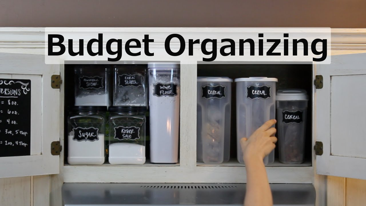KITCHEN CUPBOARD ORGANIZATION Cheap Free YouTube - How to organize your kitchen cabinets