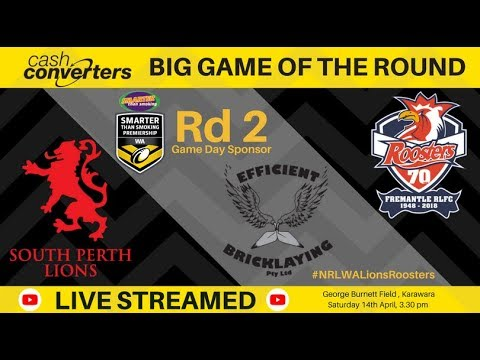 NRL WA 2018 Smarter Than Smoking Premiership Round 2 - Lions v Roosters