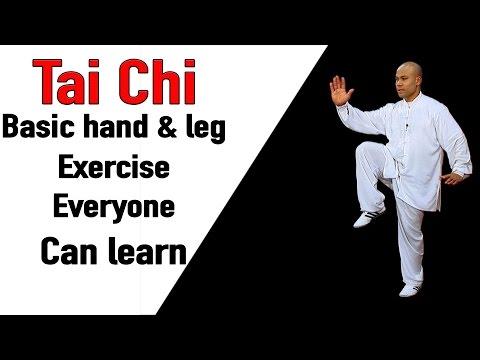Tai Chi Basic Hand & leg Exercise Everyone can learn   Tai Chi