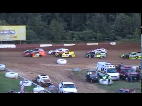 Crowley's Ridge Raceway USCS Modified Race #21 Chris Sims 7/9/15 Heat Race part 1