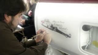 Hand Pinstriping-R.I.P. Jimmy Crawford-Famous Pinstriper
