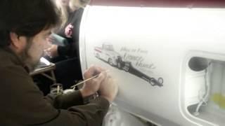 Hand Pinstriping-R.I.P. Jimmy Crawford-Famous Pinstriper