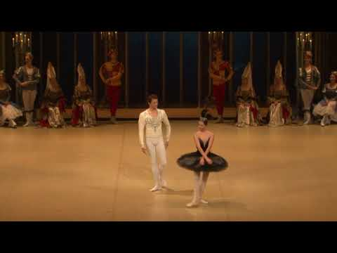 "Nina Kaptsova and Yevgeny Ivanchenko in ""SWAN LAKE"" PDD."