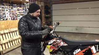 KTM 450 SXF . testas žiemą(MOTO-GURIS)