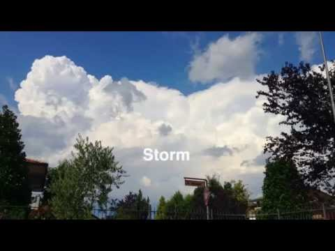 Time Lapse thunderstorm Verona Italy (preview)