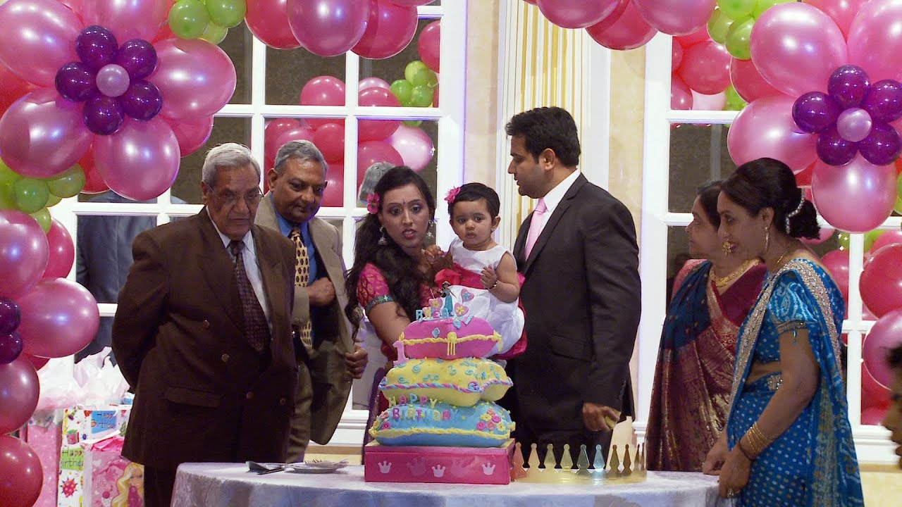 Grand entrance an indian first birthday party video for 1st birthday hall decoration
