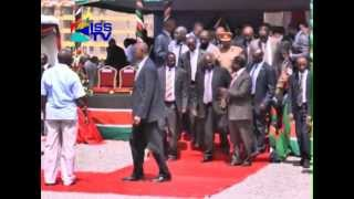 PRESIDENTIAL ESCORT COMMANDER DROPPED AFTER RUN IN WITH FIRST LADY LUCY KIBAKI