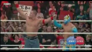 Sin  Cara  y  Jhon Cena  vs  The  Miz Alex  Riley  RAW  18 ABRIL  2011
