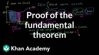 Proof of Fundamental Theorem of Calculus