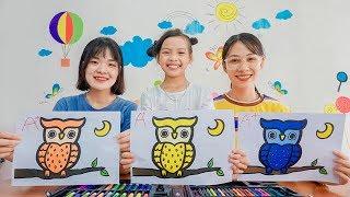 Belajar Hewan liar untuk anak-anak - Mainan binatang untuk anak anak | Owl at Night