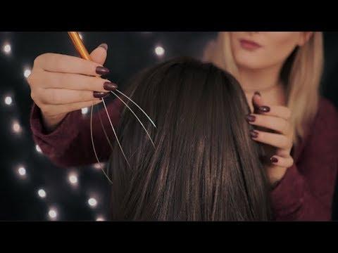 [ASMR] Soft Hair Play - Brushing - Scratching - Combing - Massage
