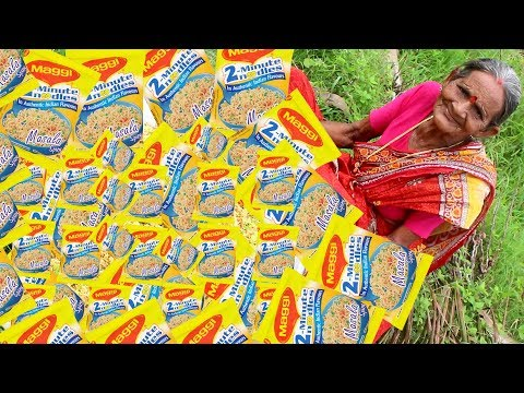Maggi Noodles Cooking By Our Grandma || Myna Street Food