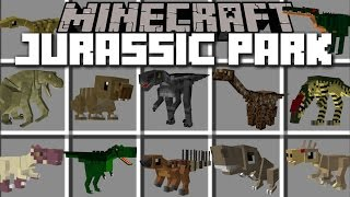 Minecraft JURASSIC PARK DINOSAUR MOD / FIGHT DINOSAURS TO EXTINCTION!! Minecraft