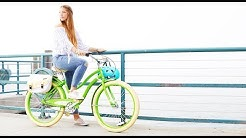 Women's  3-Speed Hybrid Cruiser Bike, Green | Huffy