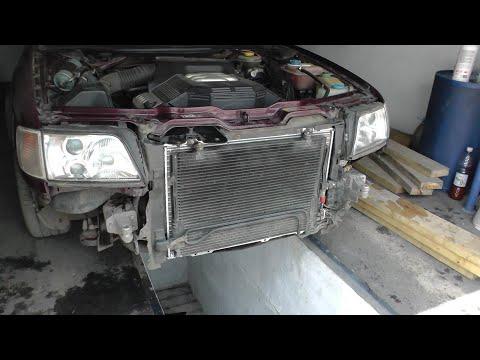 Замена радиатора охлаждения двигателя ауди A6 C4