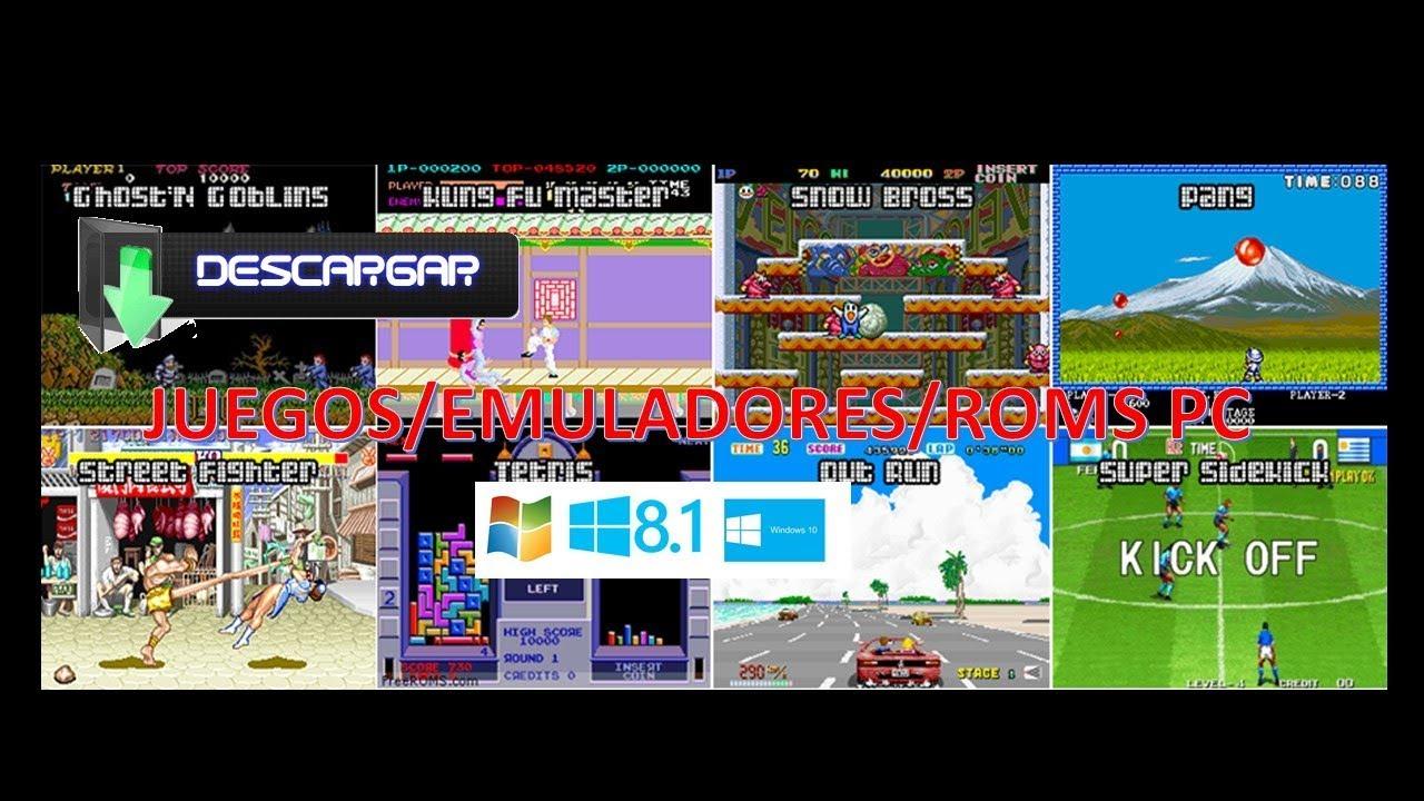 Descargar Juegos Retro Emuladores Roms Para Pc Youtube