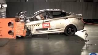 Краш тесты безопасных автомобилей Hyundai Solaris смотреть