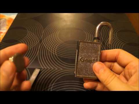 [200] Genii magnetic padlock 'picked' open