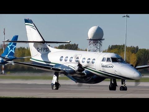 Pascan Aviation BAe Jetstream 32 (JS32) landing & departing Montreal (YUL/CYUL)