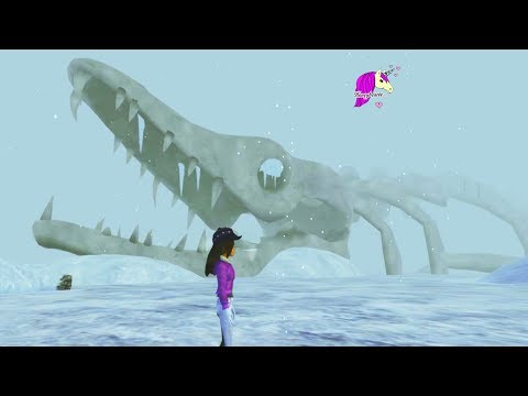 I Found A Dinosaur In The Snow ! Unlocking Star Stable Online Horse Video Game Play