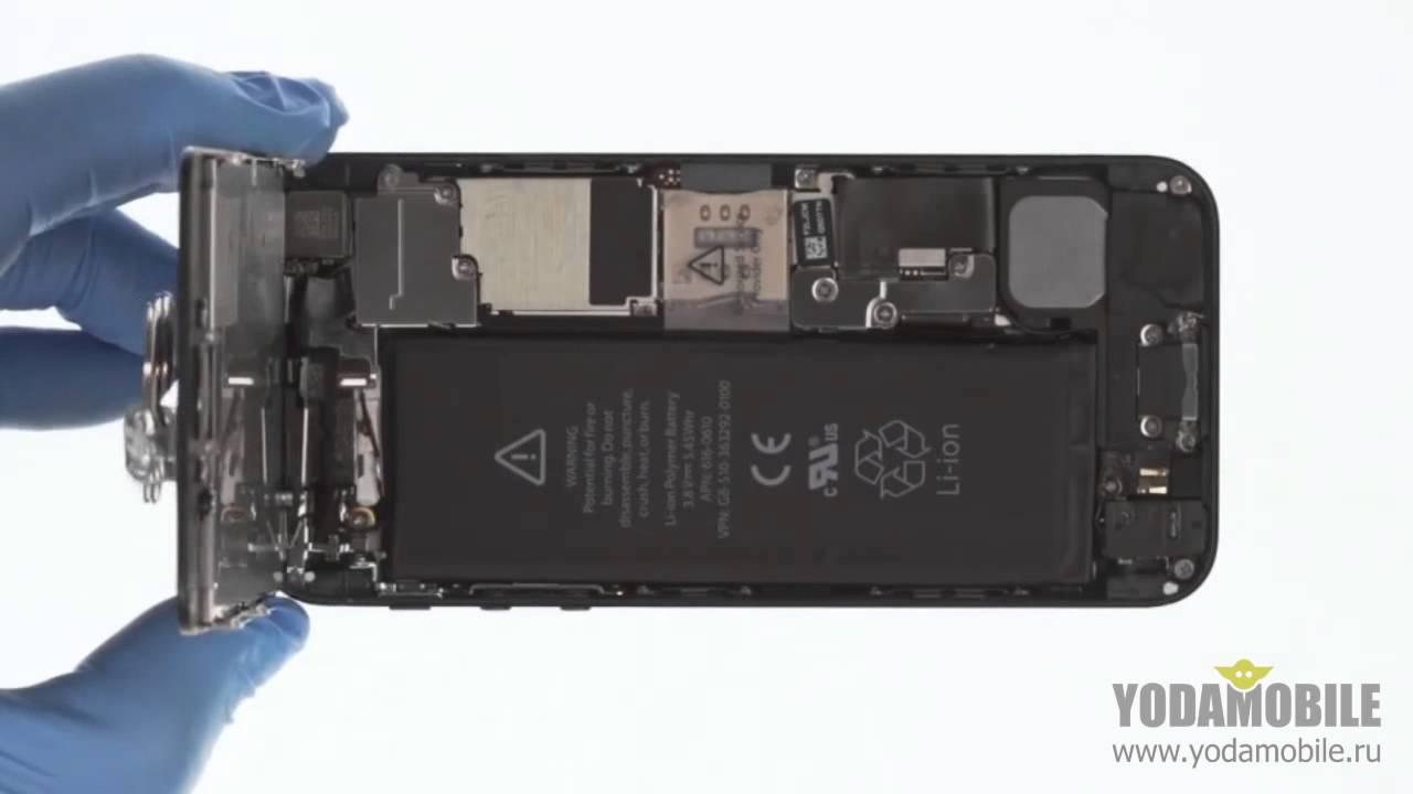 замена динамиков iphone 5