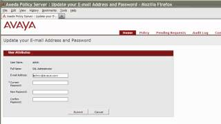 How to Change the admin User Password and Email Address for Secure Access Link Policy Server 1.5