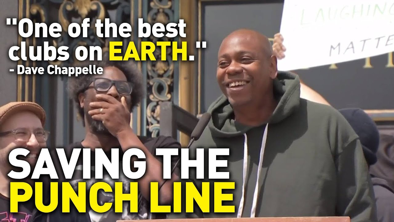 Dave Chappelle Delivers Speech Outside Sf City Hall To Help Save