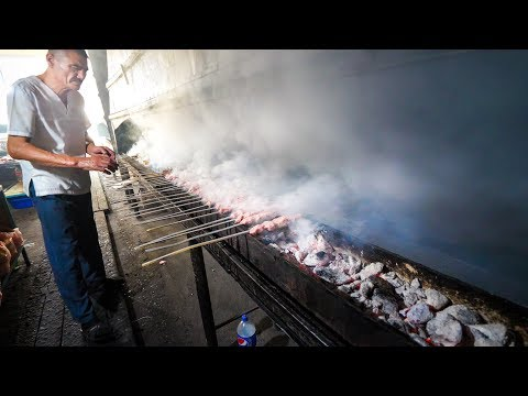 Uzbek Food Tour in Samarkand - GIANT PLATTER and 21 METER Kebab Grill in Uzbekistan!