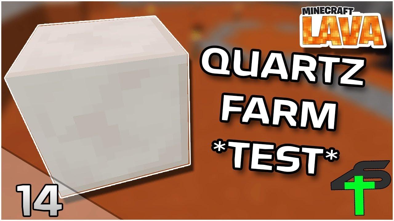 Quartz Farm Im Test Minecraft Lava 14 Items4sacred Ger Youtube