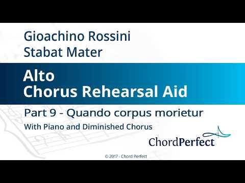 Rossini's Stabat Mater Part 9 - Quando corpus morietur - Alto Chorus Rehearsal Aid