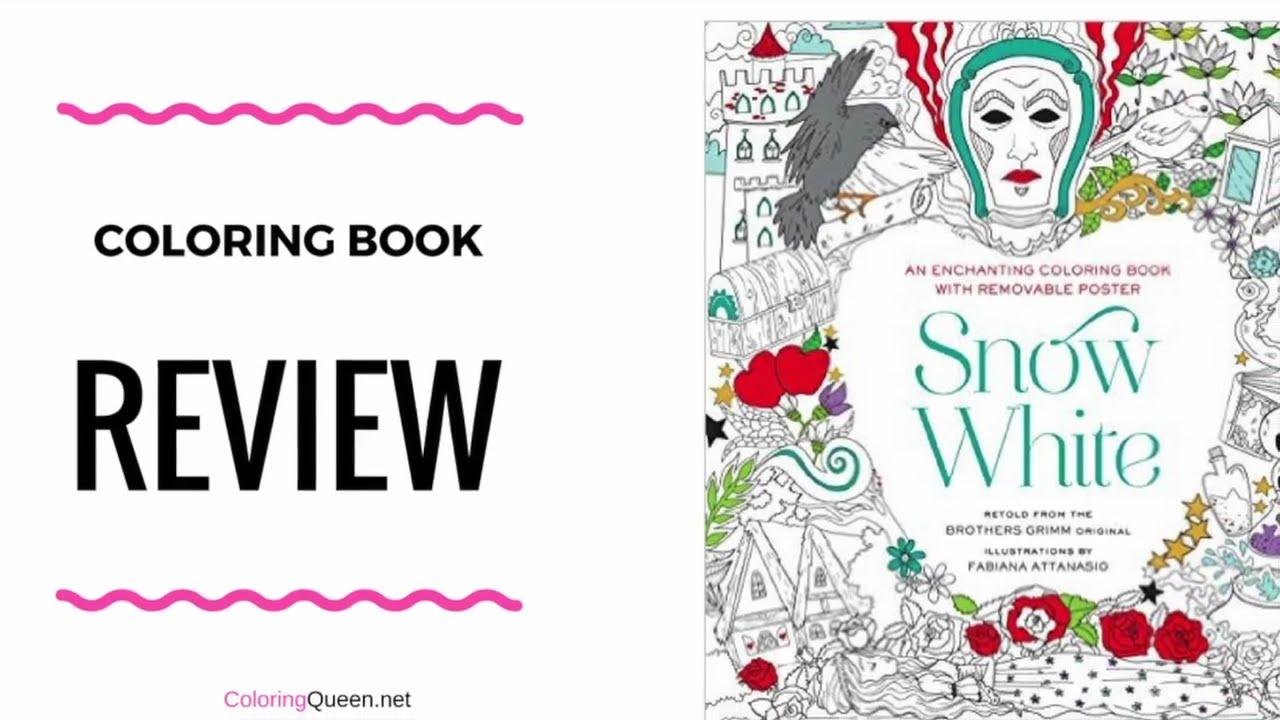 Snow White Coloring Book Review - Fabiana Attansio - YouTube