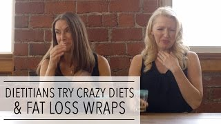2 Dietitians DEBUNK FAD DIETS   Apple Cider Vinegar Diet   Baby Food Diet   It Works Wraps