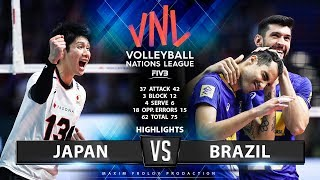 Japan vs Brazil  | Highlights Men's VNL 2019