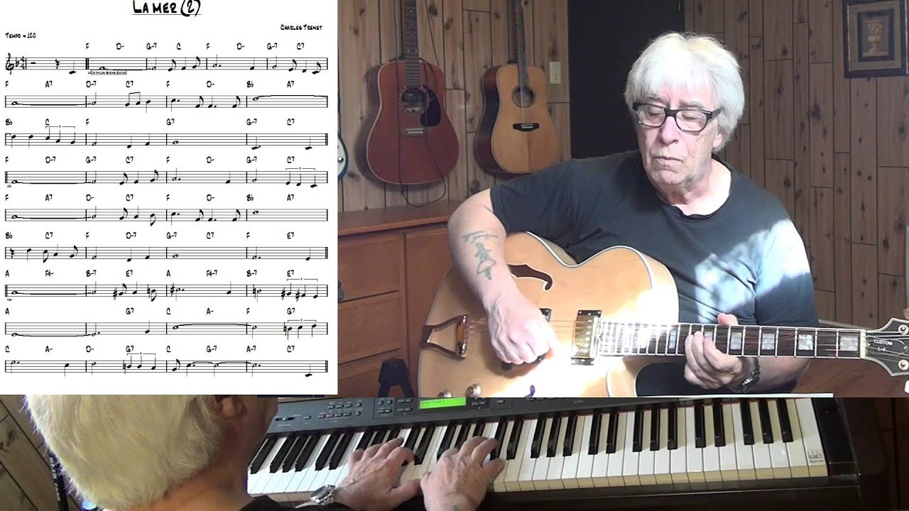 La Mer Beyond The Sea Jazz Guitar Piano Cover Charles Trenet