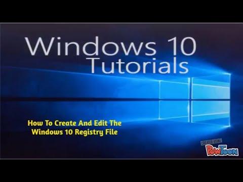 Windows 10 Create And Edit Registry File