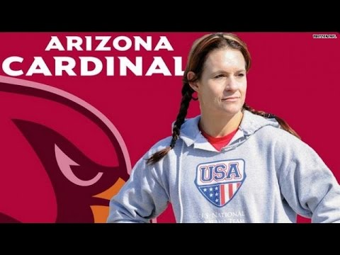 Jen Welter becomes NFL's first female coach!
