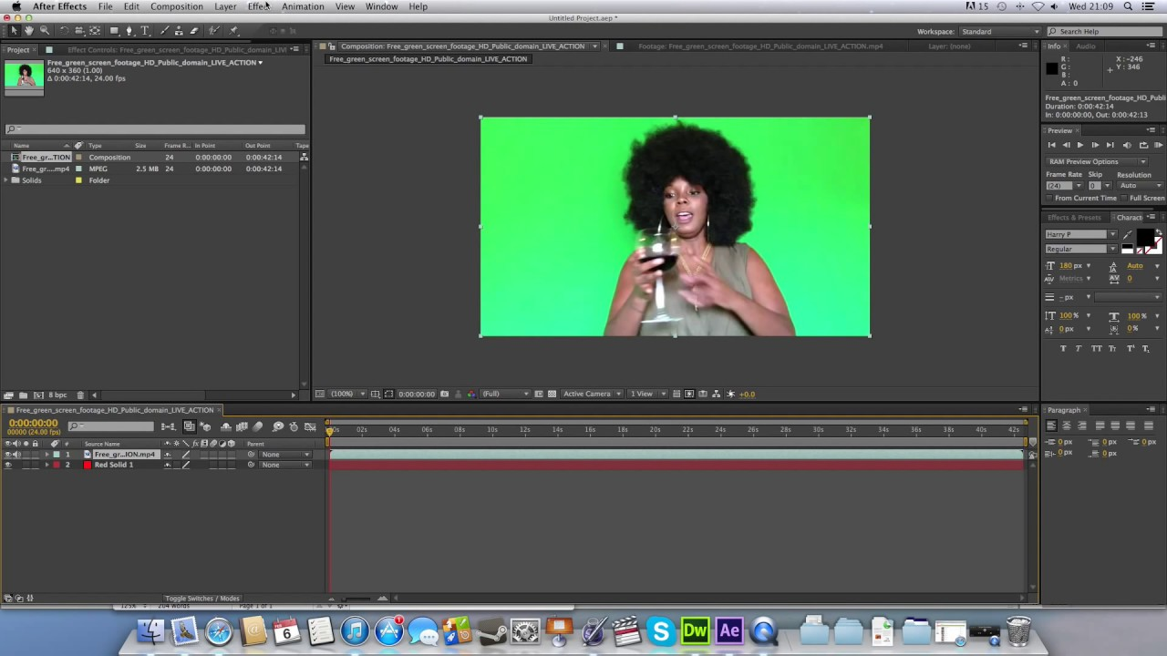 After Effects Keyed Footage Silhouette Tutorial