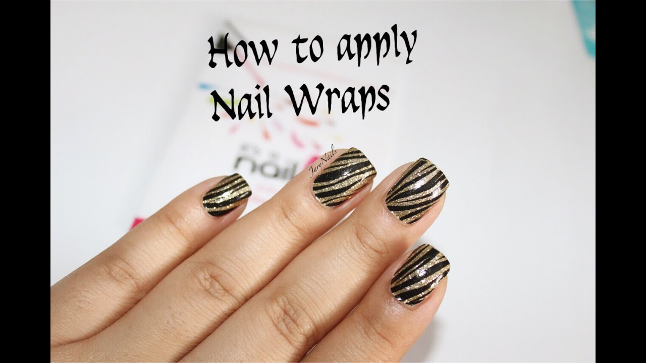 how to make nail wraps