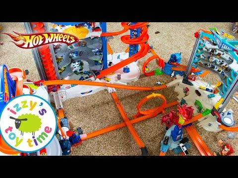 Thumbnail: Cars for Kids | Hot Wheels MEGA CITY Fast Lane Playset | Fun Toy Cars for Kids Pretend Play