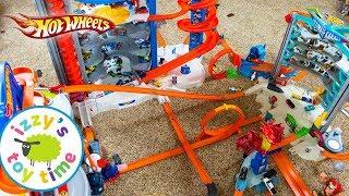 Cars  | Hot Wheels MEGA CITY Fast Lane Playset | Fun Toy Cars  Pretend Play